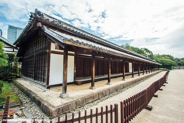 Hyakunin-bansho, Housed 100 guards, Edo Castle Gardens, Tokyo Imperial Palace, Tokyo, Japan