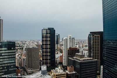 View from the Hilton, Shinjuku, Tokyo, Japan