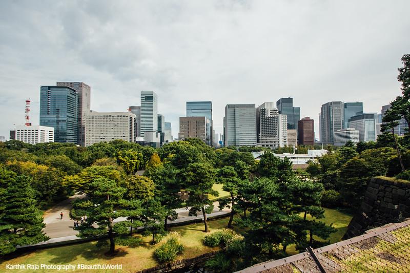 View of Tokyo, Edo Castle Gardens, Tokyo Imperial Palace, Tokyo, Japan