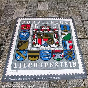 Stamp, art, Vaduz, Liechtenstein
