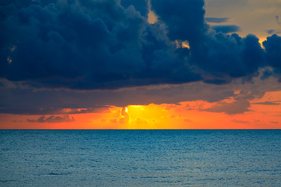 Sunrise, Caribbean sea, Riviera Maya, Mexico