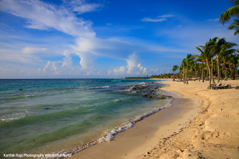 Beach, Caribbean Sea, Riviera Maya, Mexico