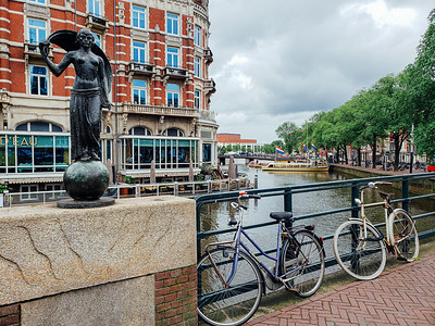 Bicycles and canals, Amsterdam