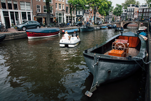 Canals and boats, Spiegelgracht, Amsterdam