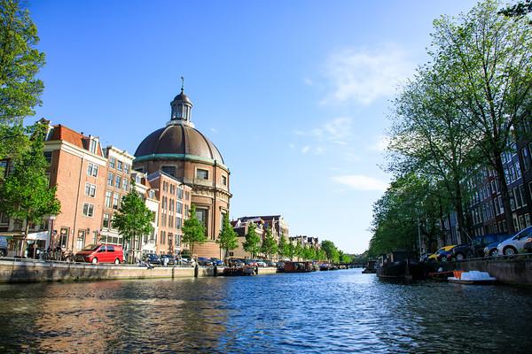 Renaissance Koepelkerk on the Singel canal, Amsterdam