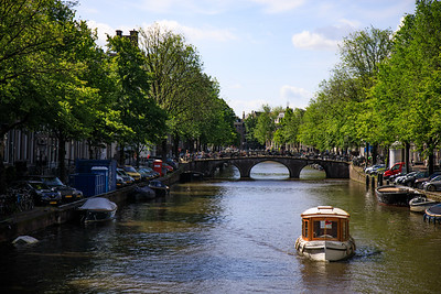 Boats and canals, Singel, Amsterdam