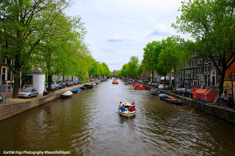 Prinsengracht, Canals and boats, Amsterdam