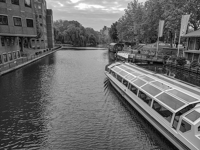 A canal and a boat, Spiegelgracht, Amsterdam, Netherlands