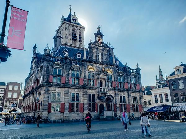 Delft Town Hall Stadhuis Delft, Markt, Market, Old Center, Delft, Netherlands