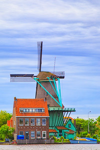 De Kat, Zaandam, Windmill, Zaanse Schans,  Netherlands