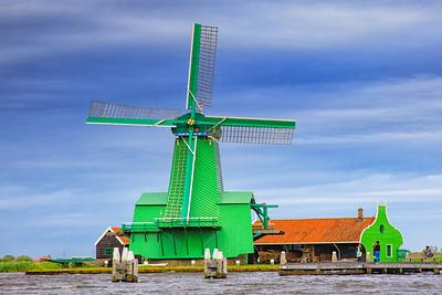 De Gekroonde Poelenburg, Windmill, Zaanse Schans,  Netherlands
