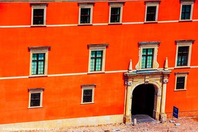 Royal Palace, Windows, Warsaw, Poland