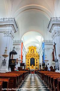 The smaller Basilica of the Holy Cross, Krakowskie Przedmieście, Warsaw