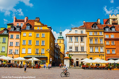 Castle Square with Church of St. Martin, Warsaw