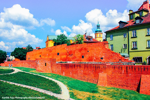 Old walls of Warsaw