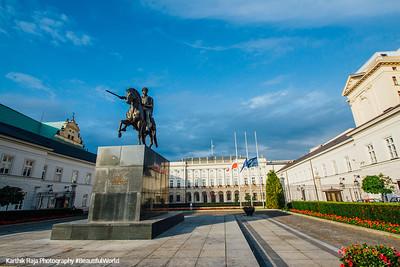 Presidential Palace with Prince Józef Poniatowski, Warsaw