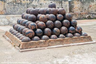 Cannon balls, Castillo de San Cristobal, Old San Juan
