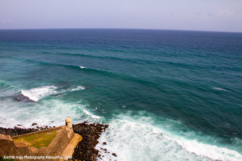 Atlantic ocean, tower, Castillo de San Cristobal, Old San Juan