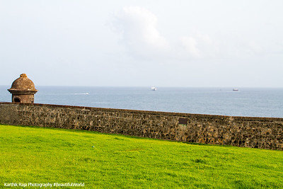 Old San Juan city walls and tower