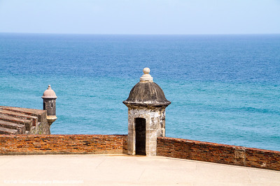 City walls and tower, Atlantic Ocean, Old San Juan