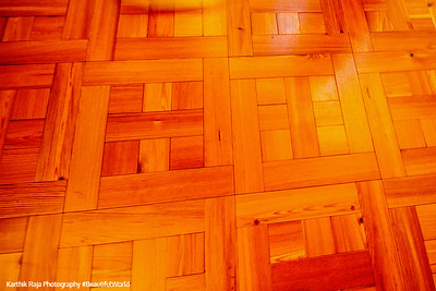 Casa Batllo, Gaudi, Only straight lines, the floor, Barcelona, Spain