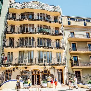 Casa Batllo, Gaudi,  Balcony, Barcelona, Spain