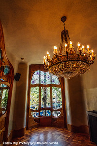 Casa Batllo, Gaudi, dining room, Barcelona, Spain