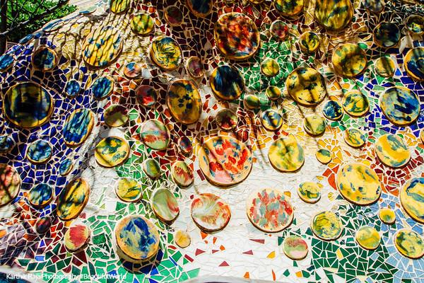 Splash of colors, Casa Batllo, Gaudi, Barcelona, Spain