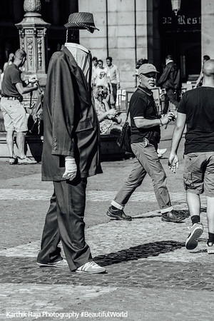 Invisble Man, Plaza Mayor, Madrid, Spain