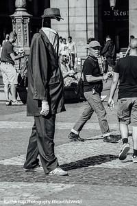 Invisble Man, Plaza Mayor, Madrid, Spain