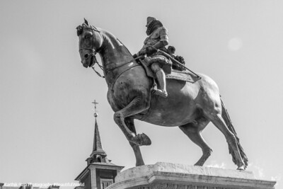 Philipe III statue, Palaza Mayor, Madrid, Spain