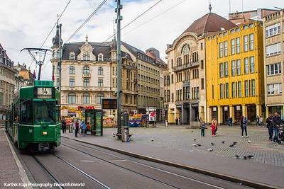 Marktplatz, Tram, Basel, Switzerland