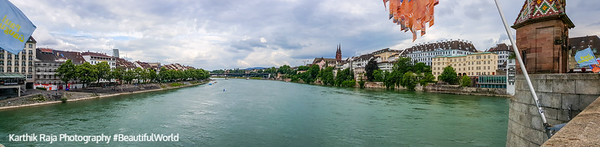 View from Mittlere Brücke (Middle Bridge), Basel, Switzerland