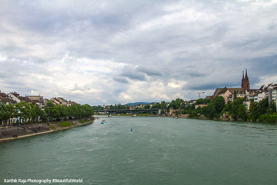 View from Mittlere Brücke (Middle Bridge), Basel, Switzerland
