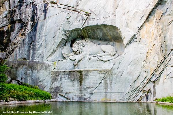 Lion Monument - Löwendenkmal, Lucerne, Switzerland