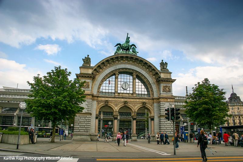 Train station, Lucerne, Switzerland