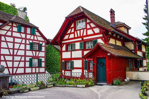 Typical Swiss houses, Lucerne, Switzerland