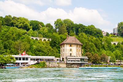 Schloss Worth. Rhine falls, Switzerland