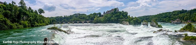 Panorama, Rhine falls, Switzerland