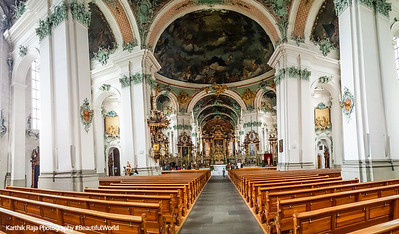 Baroque Interiors, Cathedral, St. Gallen, Abbey of Saint Gall, Switzerland