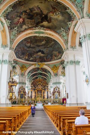 Baroque Interiors, Cathedral, St. Gallen, Abbey of Saint Gall, Switzerland