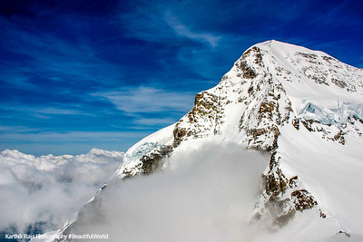 Monch peak - 4099 m, Jungfraujoch, Switzerland