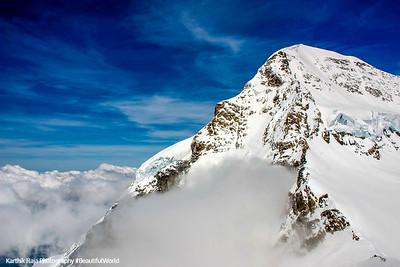 Monch peak - 4099 m, Jungfraujoch, Switzerland