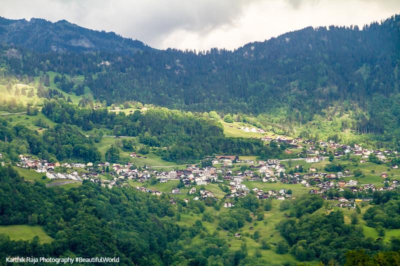 Village in the Swiss Alps
