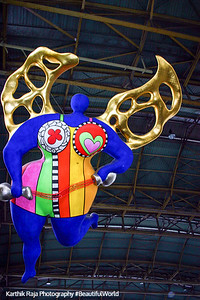 'L'Ange Protecteur,' or Guardian Angel, by Niki de Saint-Phalle, Main train station - Hauptbahnhof, Zurich, Switzerland