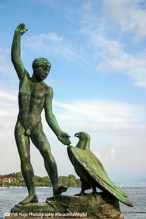 Ganymede - Statue at the B�rkliplatz, Zurich, Switzerland
