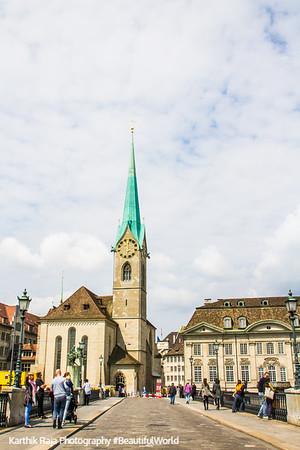 Fraumunster Church, Munsterburcke, Zurich, Switzerland