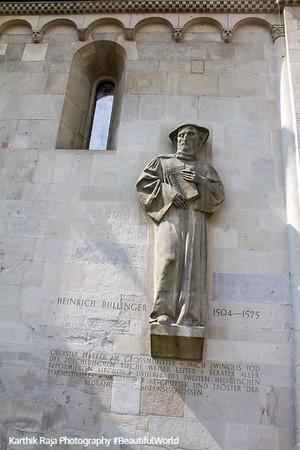 Heinrich Bullinger, Grossmunster Church, Zurich, Switzerland