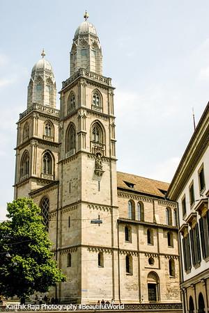 Grossmunster Church, Zurich, Switzerland