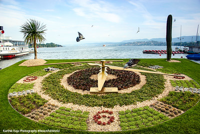 Flower Clock, Zurich, Switzerland